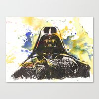 Darth Vader Star Wars Art Canvas Print
