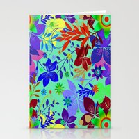 Flowers Explosion Stationery Cards