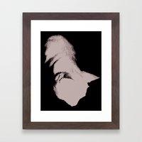 Cat Silouette Framed Art Print