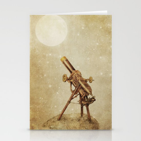Moonrise (sepia option) Stationery Card