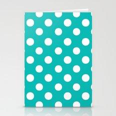 Polka Dots (White/Tiffany Blue) Stationery Cards