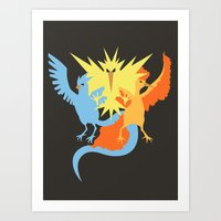 Pocket monster 144 145 and 146 Art Print