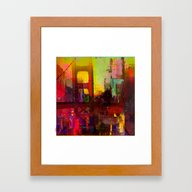 And The Night Comes Framed Art Print