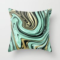MARBELLOUS IN MINT AND G… Throw Pillow