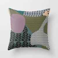 Rare Rabbit Throw Pillow