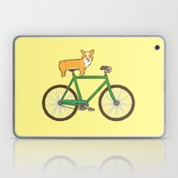Corgi On A Bike Laptop & iPad Skin