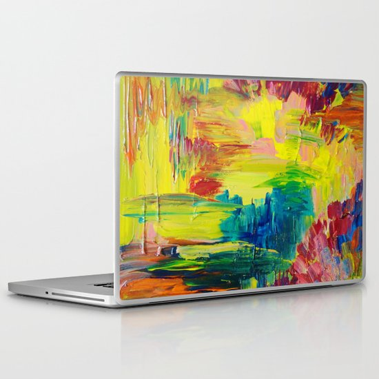 GOING THROUGH THE MOTIONS -  Stunning Saturated Bold Colors Modern Nature Abstract Laptop & iPad Skin