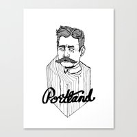 Ode to Portland II  Canvas Print