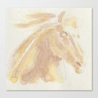 Horse Aquarelle Canvas Print