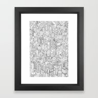 Framed Art Print featuring Isometric Urbanism Pt.1 by Herds Of Birds