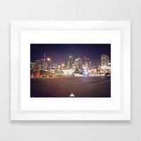 Toronto Night Lights Framed Art Print