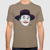 The Joker Mens Fitted Tee Tri-Coffee SMALL