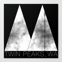 Twin Peaks, WA (White Lo… Canvas Print