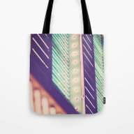 Turquoise Neon Tote Bag