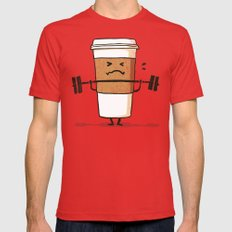 Strong Coffee Mens Fitted Tee Red SMALL