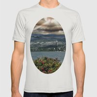 Bridge Near Vancouver Mens Fitted Tee Silver SMALL