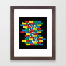 Brick in the Wall Framed Art Print