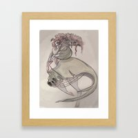 Clown Queen Framed Art Print
