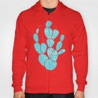 Linocut Cacti #1 Desert Blue Hoody