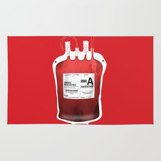 My Blood Type is A, for Awesome! *Classic* Area & Throw Rug