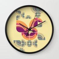 Vintage Pattern Peacock Wall Clock