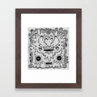 square sausage Framed Art Print