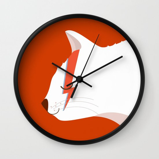 David Meowie Wall Clock