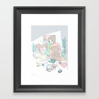 EMO GIRLS Framed Art Print