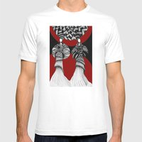 African Mens Fitted Tee White SMALL
