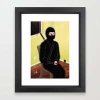 The Weary Eyed Assassin Framed Art Print