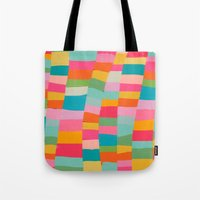 colorful patchwork Tote Bag