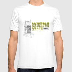 Brighton Beach Elevated Station SMALL White Mens Fitted Tee