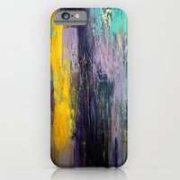 iPhone & iPod Case featuring Purple Haze II - Textured Abstract Painting by Liz Moran