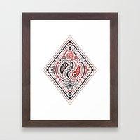 83 Drops - Diamonds (Red… Framed Art Print