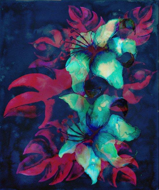 Tropical Flower - Blue Lilly Art Print