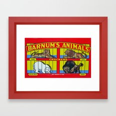 animal crackers Framed Art Print