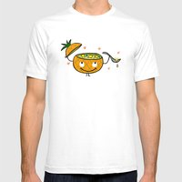 Pineapple Curry Mens Fitted Tee White SMALL