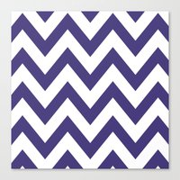 HORNED FROG CHEVRON Canvas Print
