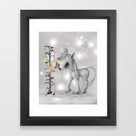 Little Snowflake Framed Art Print