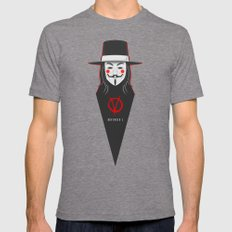 V for vendetta November 5 Minimal Poster Mens Fitted Tee Tri-Grey SMALL