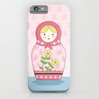 iPhone & iPod Case featuring Matryoshka Doll (pink) by Amanda Francey