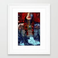 Framed Art Print featuring NEIRED (TWO) by Stephan Parylak