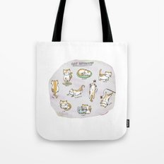 Cat Activities Tote Bag