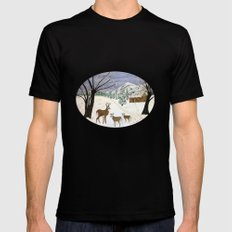 Winter is here  SMALL Mens Fitted Tee Black