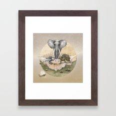 Council of Animals  Framed Art Print