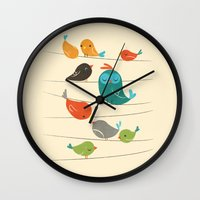 Colorful Birds Wall Clock