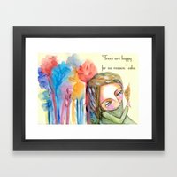 Trees Are Happy For No R… Framed Art Print