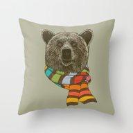 Winter Bear Throw Pillow
