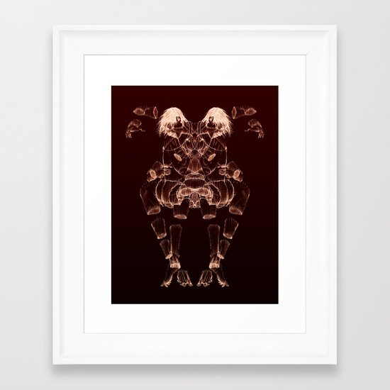 The Beast Inside 2 Framed Art Print