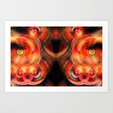 Secret Neural Pathways of an FM Synth #abstract Art Print